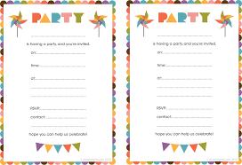 Printable Birthday Invitation Templates Brianhprince