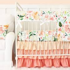 dazzling crib bedding sets for girls 20 engaging baby girl per 24 secret garden peach ruffle