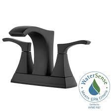 Pfister Venturi 4 in. Centerset 2-Handle Bathroom Faucet in ...
