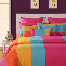 colorful bed sheets. Bring Brightness And Vibrancy In Your Bedroom With Rainbow Bed Sheets At Swayam India Colorful B