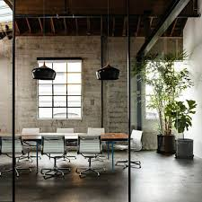Chic office design Coastal The Concrete Floor Of This Meeting Room Has Been Polished Giving It An Industrial But Refined Look The Nordic Pendant Lights Are Real Eyecatchers And Fat Shack Vintage 10 Industrial Chic Office Interiors Fat Shack Vintage