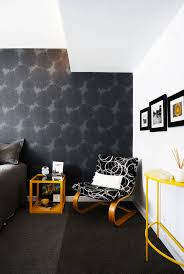 Home office wallpaper Black Wallpaper Ideas Freshome5 Blue Ridge Apartments 28 Stunning Wallpaper Ideas Your Home Needs Freshomecom