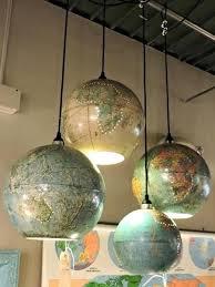 light globes for chandelier great idea for your room world globe sculptural glass globe 3 light