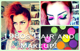 1980s punk hair makeup tutorial by cherry dollface you