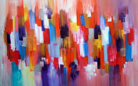 easy paint abstract art steps painting