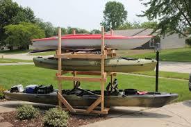 diy rolling kayak storage rack 2x4s
