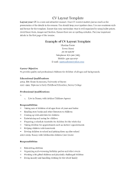 Free Resume Templates Objective Summer Job Regarding Work