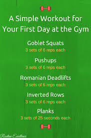 a simple first day at the gym workout
