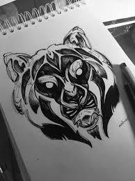 тату идея необычного тигра Tattoo Sketch Inktober2018