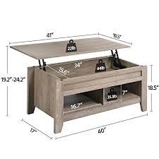 yaheetech lift top coffee table