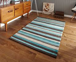 hong kong stripey 2022 brown blue rugs 2022 brown blue rugs from rugs direct