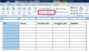 di word cara membuat tabel di microsoft office word 2007 2010 2013 lengkap