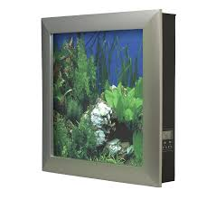 Amazon.com : Aquavista 500 Wall Mounted Aquarium with Whitestone  Background, Black Frame : Home Decor Wall Art : Pet Supplies