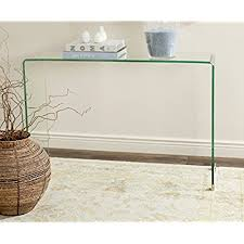 lucite console table. Safavieh Home Collection Ambler Clear Console Table Lucite A