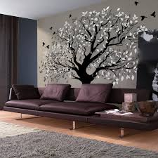 big tree decals for walls artollo huge wall decal classic themes wonderful tree birds leaves branches