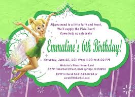 Tinkerbell Template Free Printable Tinkerbell Birthday Party Invitations Rome