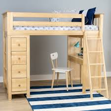 Price: $1,599.00; Jackpot All in One Loft Bed Storage Study - Natural