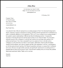 Professional Accounting Manager Cover Letter Sample