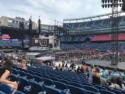 Taylor Swift Gillette Stadium Seating Chart Gillette Stadium Section 107 Row 19 Seat 2 Taylor Swift