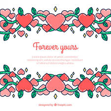 Cute Template Cute Valentines Day Template Background Vector Free Download