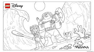 Small Picture lego moana disney movie Coloring pages Printable