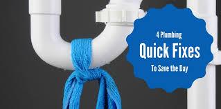 4 plumbing quick fixes you should learn