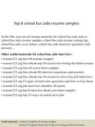 school bus aide sample resume | env-1198748-resume.cloud .
