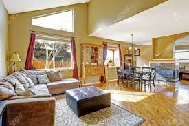 Open Floor Plan Living Room House Inteior With Open Floor Plan Living Room With Dining Area