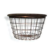 wire basket table urban large wire basket end table wire basket table aldi
