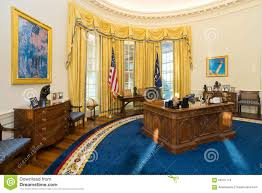 the white house oval office. Little Rock, AR/USA - Circa February 2016: Replica Of White House S Oval Office In Bill Clinton Presidential Center And Libr The T