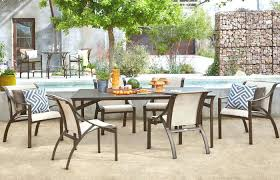 patio dining set with bench 6 piece outdoor