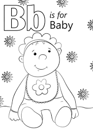 Letter B Is For Baby Coloring Page Free Printable Coloring Pages