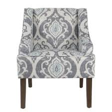 high back living room chair. HomePop Classic Swoop Accent Chair - Suri Blue High Back Living Room T