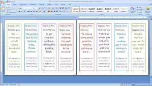 Bookmark Template Word How To Design And Print Your Own Bookmarks