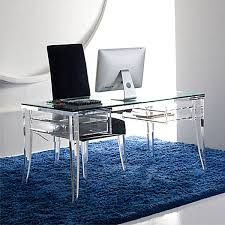 clear office desk. Office:Clear Acrylic Office Desk And Black Chair On Blue Fluffy Rug Clear  Clear Office Desk Macdgran