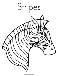 Small Picture Zebra Coloring Page Twisty Noodle