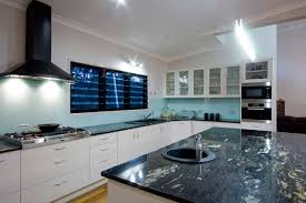 30mm black forest gold granite kitchen with pencil round edge