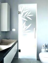 frosted glass panels bathroom interior doors with door p