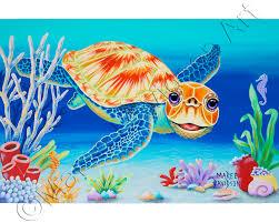 turtle painting under the sea maree davidson art