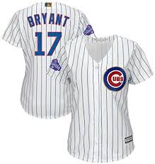 Majestic Chicago Cubs Mlb Womens Kris Bryant 17 Cool Base Player Jersey Plus Sizes