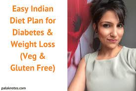 Diabetes Weight Chart Easy Indian Diet Plan For Diabetes Weight Loss Veg