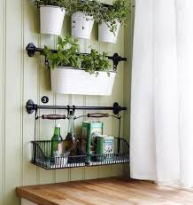 Love the wall color and the hanging baskets. AmazonSmile - Ikea Wire Baskets  w/