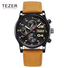 famous brand tezer business men watch genuine leather date week famous brand tezer business men watch genuine leather date week hours men quartz watch men watches famous brand t2050