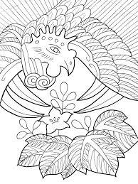 12月桐に鳳凰の花札の塗り絵 大人の塗り絵ー無料新着ぬりえ