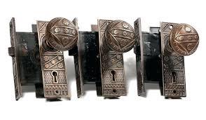 antique door knobs hardware. Beautiful Door Vintage Door Knobs Three Matching Antique Hardware Sets By F C With Old  Sold In Antique Door Knobs Hardware N