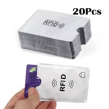 20pcs aluminum anti theft rfid blocking sleeves card holder protector for credit id debit card in stock lazada ph