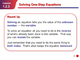 solving one step equations powerpoint jennarocca