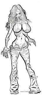 Pin Up Zombie Girls Within Hot Girl Coloring Pages - creativemove.me