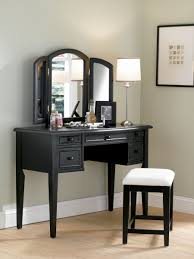 Mirrors For Bedrooms Classic Corner Vanity Table With Rustic Mirror Design And Cream