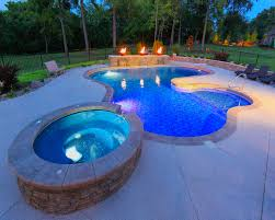 inground pools. 59 - Custom Lagoon With Spillover Spa Inground Pools L